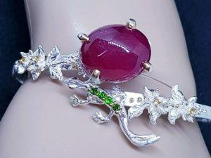АКЦИЯ!!! Скидка 20% на авторский браслет  «Восторг»  с крупным рубином!!!. Ярмарка Мастеров - ручная работа, handmade.
