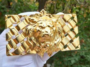 Видео. Брошь Царь зверей Лев,80ые-90ые. Ярмарка Мастеров - ручная работа, handmade.