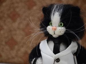 Распродажа вязаных изделий: игрушки-котики, подушки, плед. Ярмарка Мастеров - ручная работа, handmade.