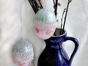 Видео мастер-класс: декор пасхального яйца «Нежность». Работаем в стиле а-ля Oxi-Gra. Ярмарка Мастеров - ручная работа, handmade.