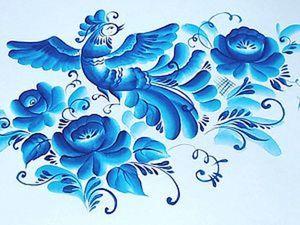 Птичка и цветы. Часть1. Ярмарка Мастеров - ручная работа, handmade.