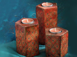 Decorate Wooden Candlesticks Using Burning and Decoupage. Livemaster - handmade