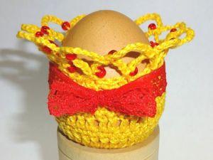 Вяжем крючком симпатичный мешочек для пасхального яйца. Ярмарка Мастеров - ручная работа, handmade.
