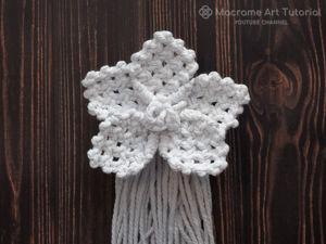 Плетём цветок в технике макраме. Ярмарка Мастеров - ручная работа, handmade.
