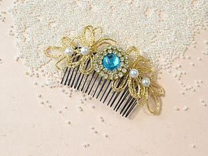 Creating a Nice Comb with Beads and Rhinestones. Livemaster - handmade