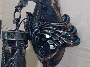 Светильник дракон(ковка). Ярмарка Мастеров - ручная работа, handmade.