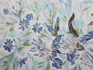 Музыка ветра Шелковый батик палантин. Ярмарка Мастеров - ручная работа, handmade.