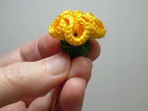 Сняла видео как связать желтый цветочек. Ярмарка Мастеров - ручная работа, handmade.