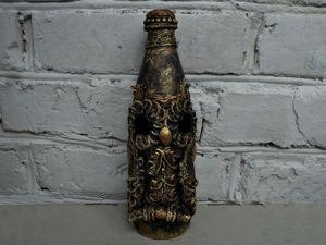 Создаем оформление бутылки «Сова». Ярмарка Мастеров - ручная работа, handmade.