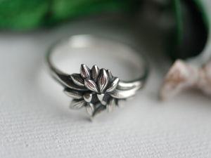 Новинка ! Подснежники, кольцо из серебра 925 с чернением. Ярмарка Мастеров - ручная работа, handmade.