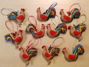 Елочная игрушка «Кофейный петушок» своими руками. Ярмарка Мастеров - ручная работа, handmade.