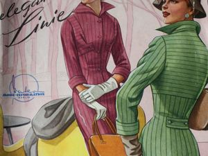Элегантные линии -немецкий журнал мод -1956. Ярмарка Мастеров - ручная работа, handmade.