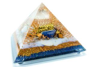Оргонит — Кристалл кварца, содалит, голубой агат, элитный шунгит, аметист. Ярмарка Мастеров - ручная работа, handmade.