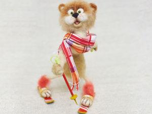 Видео мастер-класс: валяем из шерсти сухого кота-лыжника. Ярмарка Мастеров - ручная работа, handmade.