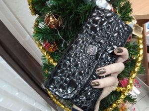 Шьем кошелек с клапаном (под кожу крокодила). Ярмарка Мастеров - ручная работа, handmade.