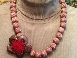 Видео мастер-класс по созданию бус из лепестков роз. Ярмарка Мастеров - ручная работа, handmade.