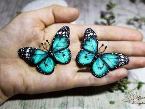Броши бабочки. Ярмарка Мастеров - ручная работа, handmade.
