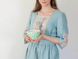 Платье с вышивкой  «Веточка». Ярмарка Мастеров - ручная работа, handmade.