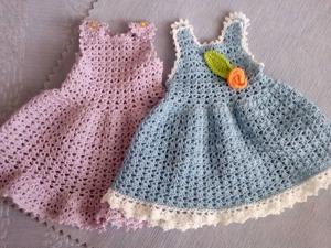 Вяжем крючком сарафанчик для текстильной куколки. Часть 2: юбочка и декоративная отделка. Ярмарка Мастеров - ручная работа, handmade.