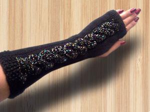 Стильные митенки перчатки повязка чалма — Осеннее предложение. Ярмарка Мастеров - ручная работа, handmade.