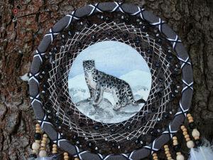 Ловец снов  «Снежный барс» , 60 см. Ярмарка Мастеров - ручная работа, handmade.