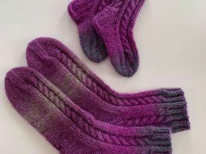 Вязанные носки. Ярмарка Мастеров - ручная работа, handmade.
