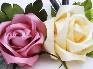 Как сделать розу из ленты. Ярмарка Мастеров - ручная работа, handmade.