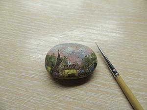 Роспись по камню: «Рассвет». Ярмарка Мастеров - ручная работа, handmade.