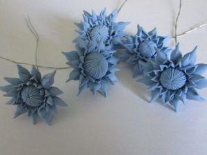 Лепим хризантемы из полимерной глины. Ярмарка Мастеров - ручная работа, handmade.