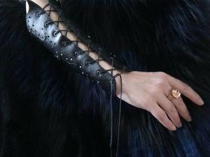 Изготавливаем стильный браслет-наруч из кожи. Ярмарка Мастеров - ручная работа, handmade.