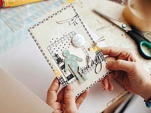 Делаем открытку в морском стиле. Ярмарка Мастеров - ручная работа, handmade.