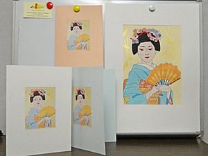 """Рисуем открытку. """"Японские мотивы. Гейша"""". Ярмарка Мастеров - ручная работа, handmade."""