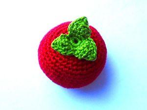 Вяжем крючком помидор. Ярмарка Мастеров - ручная работа, handmade.