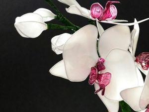 Шпилька для волос из Витраль  «Орхидея». Ярмарка Мастеров - ручная работа, handmade.