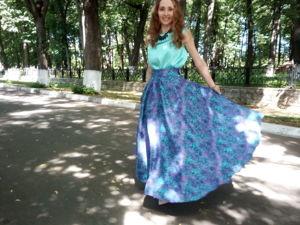 Струящиеся юбки из красивейших тканей. Ярмарка Мастеров - ручная работа, handmade.