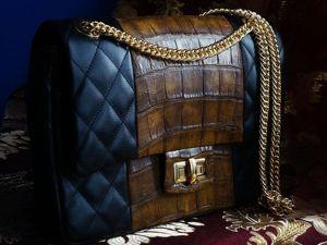 Сумочка по мотивам Chanel 2.55. Ярмарка Мастеров - ручная работа, handmade.