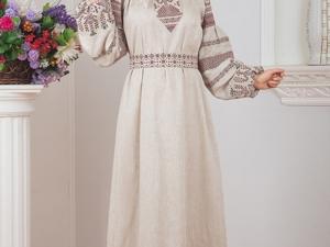 Платье Льняное Макошь. Ярмарка Мастеров - ручная работа, handmade.