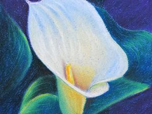 Рисуем пастелью изящный цветок каллы. Ярмарка Мастеров - ручная работа, handmade.