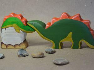 Дружелюбное семейство травоядных динозавров. Ярмарка Мастеров - ручная работа, handmade.