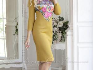 Аукцион на Вязаное платье в славянском стиле! Старт 2500 руб.!. Ярмарка Мастеров - ручная работа, handmade.