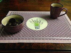 Делаем сервировочную салфетку в стиле «прованс». Ярмарка Мастеров - ручная работа, handmade.