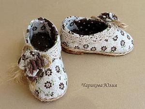 Мастерим туфли (с выкройкой) для Тильды. Ярмарка Мастеров - ручная работа, handmade.