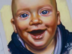 Портрет сухой пастелью. Ярмарка Мастеров - ручная работа, handmade.