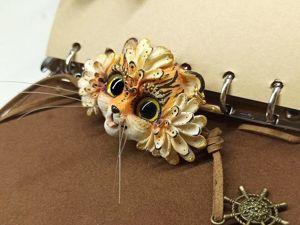 Брошь: фэнтезийный тигр. Ярмарка Мастеров - ручная работа, handmade.