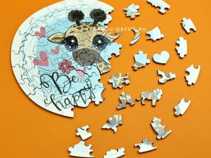 Новинка: деревянные пазлы с фигурками животных и глянцевой фотопечатью :). Ярмарка Мастеров - ручная работа, handmade.