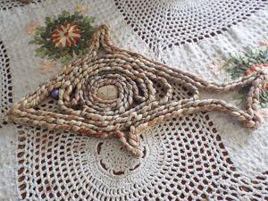 Плетёная подставка под горячее. Ярмарка Мастеров - ручная работа, handmade.