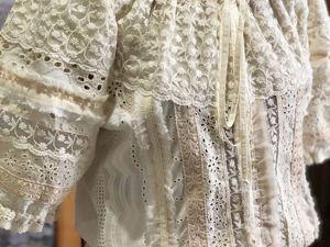 Одетта cream с короткими рукавами. Ярмарка Мастеров - ручная работа, handmade.