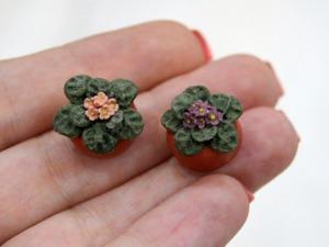 Видеурок: лепим миниатюрные фиалки. Ярмарка Мастеров - ручная работа, handmade.