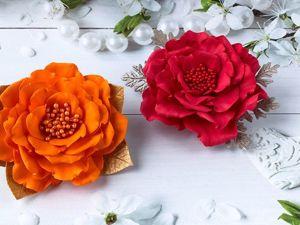 Брошь-цветок из фоамирана своими руками. Ярмарка Мастеров - ручная работа, handmade.