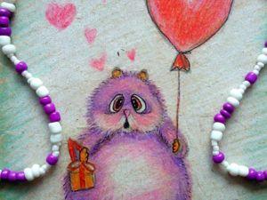 Мастер-класс: как нарисовать влюбленного хомяка цветными карандашами на крафт-бумаге. Ярмарка Мастеров - ручная работа, handmade.